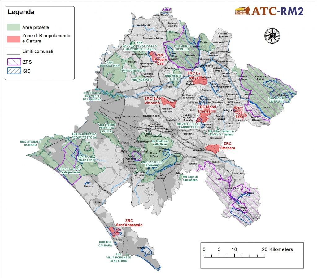 Cartina Roma E Provincia.Disponibile La Mappa Aggiornata Dell Atc Atc Rm 2 Atc Roma 2
