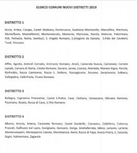 elenco comuni distretti